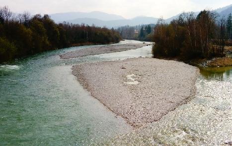 Räumliche Ausprägung von Abflussspitzen im Einzugsgebiet der Isar